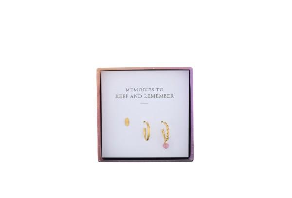 Pernille Corydon Ohrringe Daydream Earring Box, vergoldet