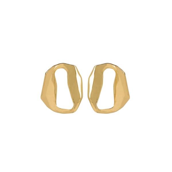 Ohrringe Drift, vergoldet