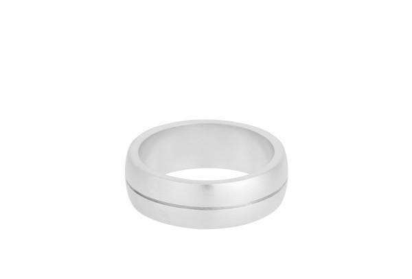 Unisex Ring Edge, Silber