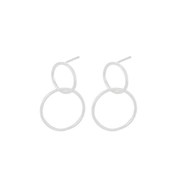 Pernille Corydon Ohrringe Double, Silber
