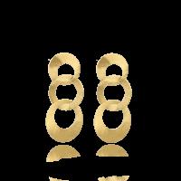 LOTT.gioielli Ohrringe Triple Round, L, vergoldet