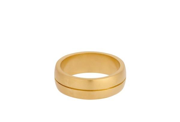 Unisex Ring Edge, vergoldet