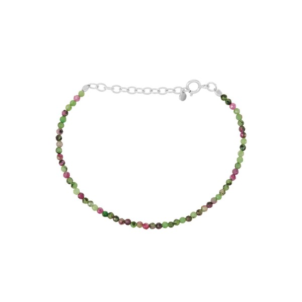 Armband Ruby Zoisite, Silber