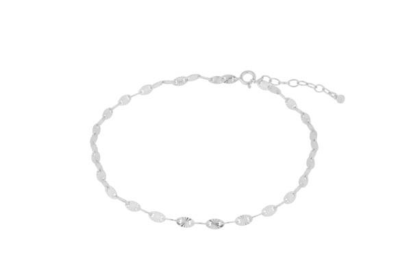 Pernille Corydon Fußkette Ocean Stars, Silber