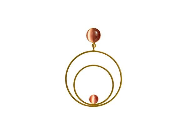 Ohrringe Circle groß, rosé, vergoldet