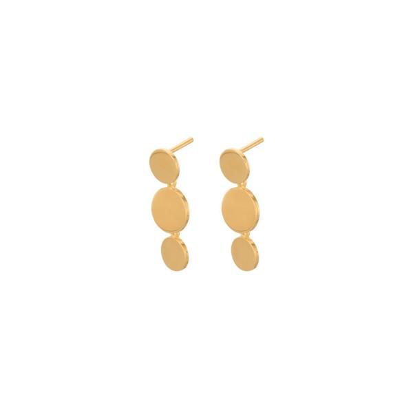 Ohrstecker Triple Sheen, vergoldet