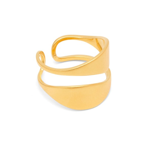 Ring Leaf, 04-02, vergoldet