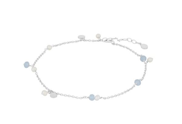 Pernille Corydon Fußkette Afterglow Sea, Silber