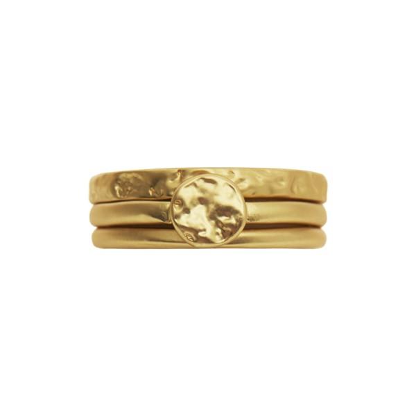Ring Amber Composition, vergoldet