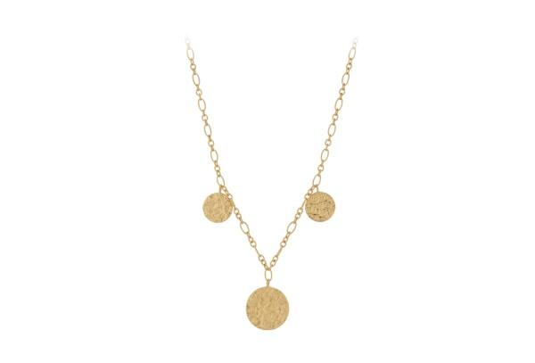Pernille Corydon Kette New Moon, vergoldet