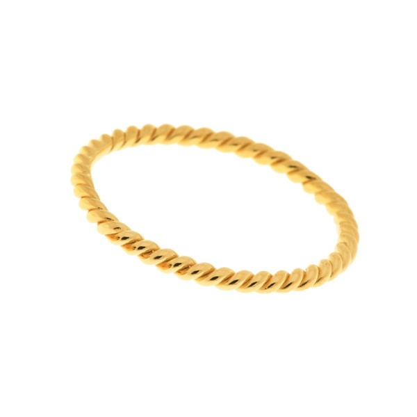 Ring Twist, vergoldet