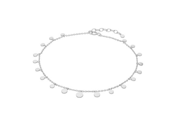 Pernille Corydon Fußkette Sheen, Silber
