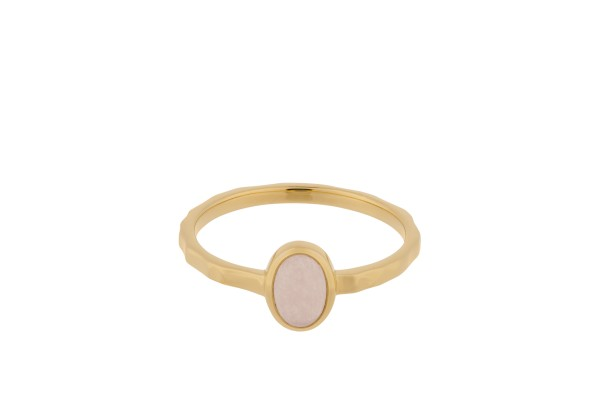 Pernille Corydon Ring Shine Rose, vergoldet
