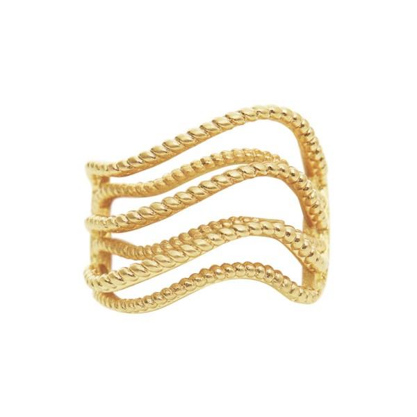 Ring Alyssa Wave, vergoldet