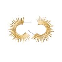 Ohrringe Sun Hoop, vergoldet
