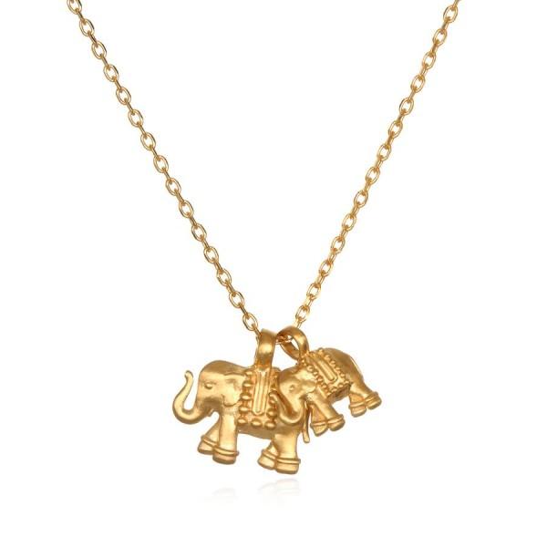 Satya Kette Elephant Love, vergoldet