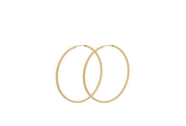 Pernille Corydon Ohrringe Creole Orbit, vergoldet