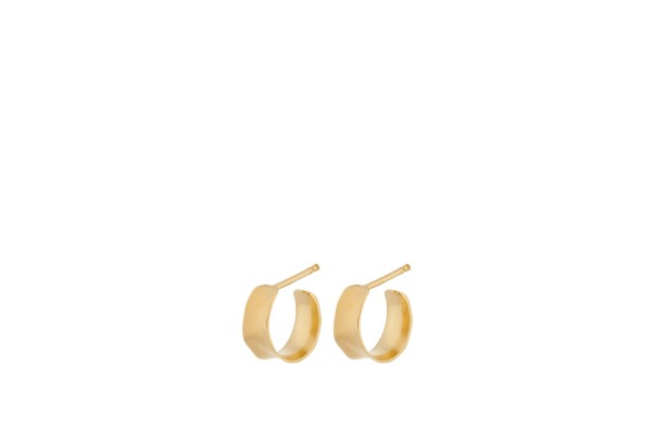 Pernille Corydon Ohrringe Mini Saga, vergoldet