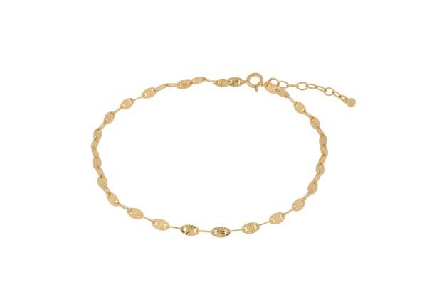 Pernille Corydon Fußkette Ocean Stars, vergoldet