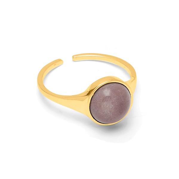 Ring Fall, Desert Sand, vergoldet, Gr. 55