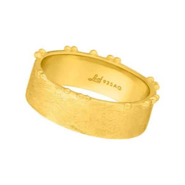 Ring Pure, matt, vergoldet