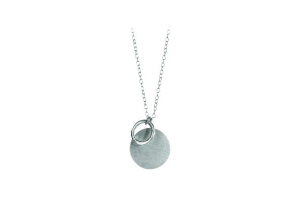 Pernille Corydon Kette Coin & Circle, Silber