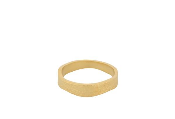 Ring Moonscape, vergoldet