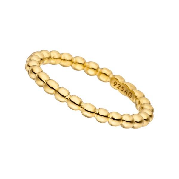 Ball-Ring, dick, vergoldet