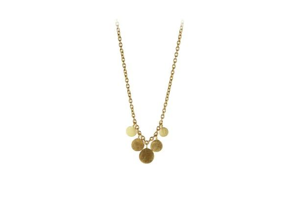 Pernille Corydon Kette Mini Coin, vergoldet