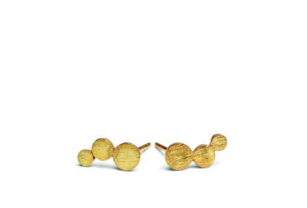 Ohrstecker Small Multi Coin, vergoldet