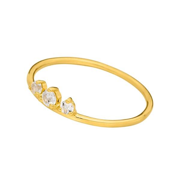 Leaf Ring Sweet Gems, vergoldet