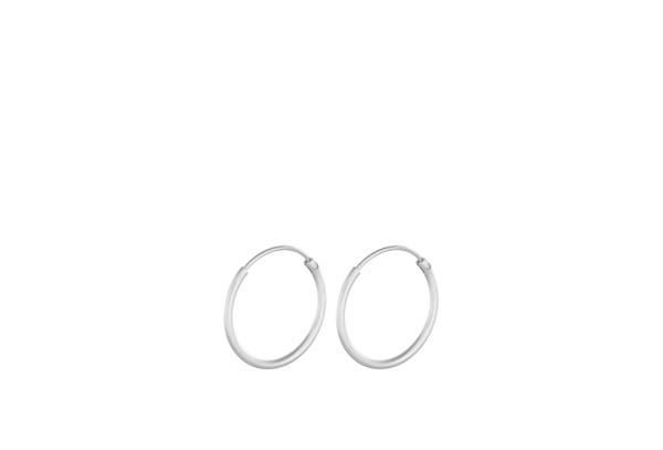 Pernille Corydon Creolen Micro Plain Hoops, Silber