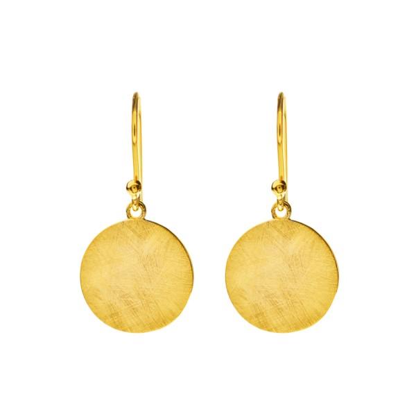 Ohrringe Plättchen, vergoldet