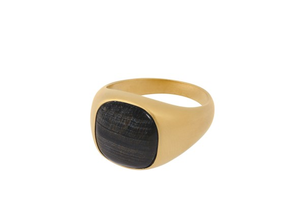 Unisex Ring Hawk Eye, vergoldet