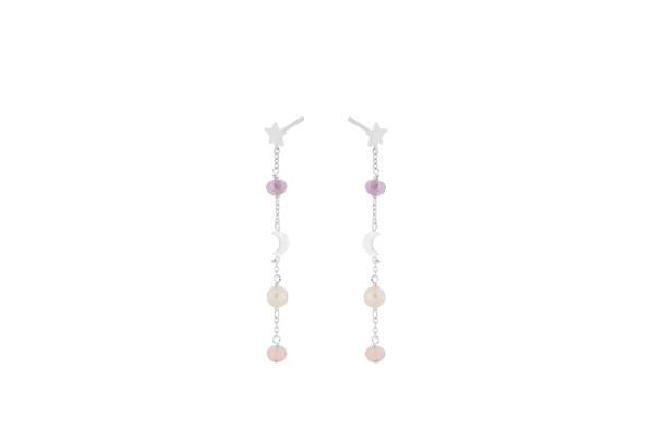 Pernille Corydon Ohrringe Pastel Dream, Silber