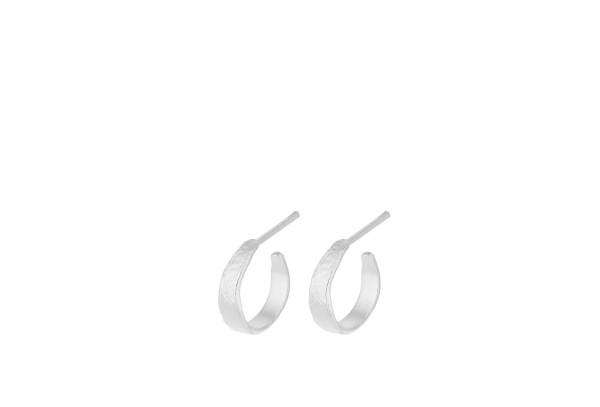 Pernille Corydon Creolen Mini Moonscape, Silber