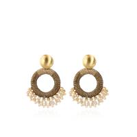 LOTT.gioielli Ohrringe Elara Drop Combi, cappuccino, S, vergoldet