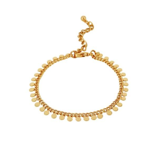 Armband Indian Round, vergoldet