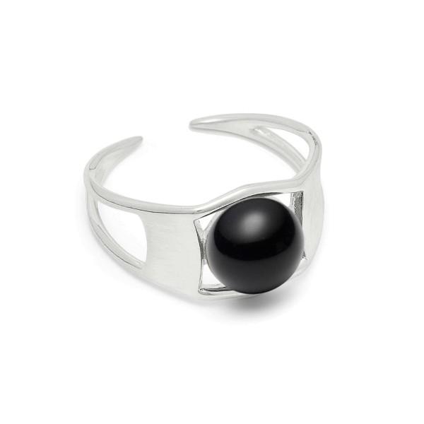 Ring Arch, Black, Silber, Gr. 55