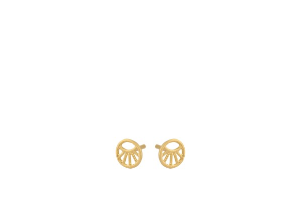 Pernille Corydon Ohrstecker Mini Daylight, vergoldet