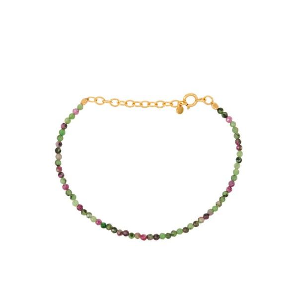 Armband Ruby Zoisite, vergoldet