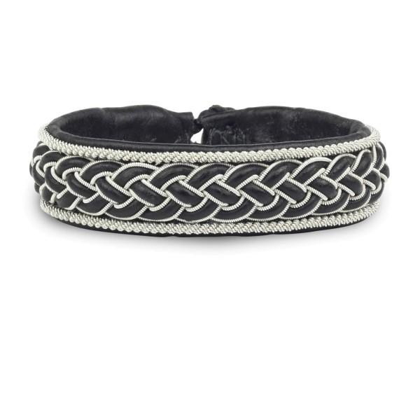 Armband AL019, Zinnfaden & Leder