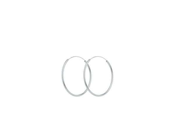Ohrringe Mini Plain Hoops, Silber