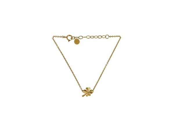 Pernille Corydon Armband Clover, vergoldet
