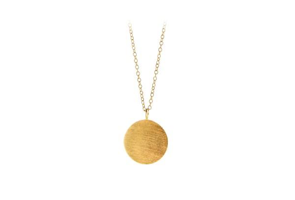 Pernille Corydon Kette Coin, vergoldet